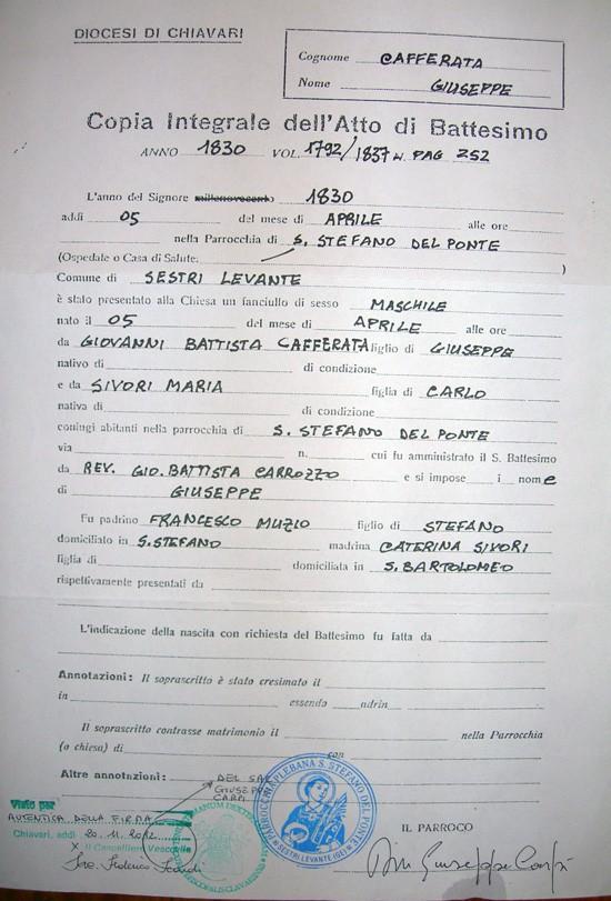 Búsqueda de antepasados | Inmigrantes italianos