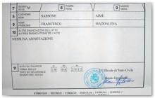 Partida de nacimiento Sassone 1880 - Casale M., Alessandria