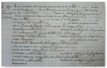 Partida de nacimiento Panario 1864, Albisola S., Savona